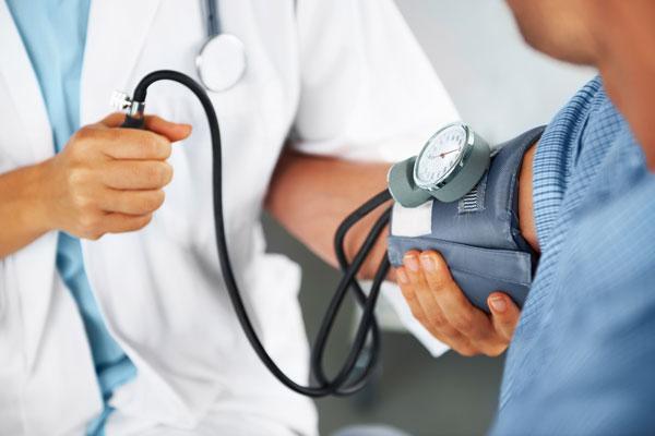 Nurse completing diagnostic testing