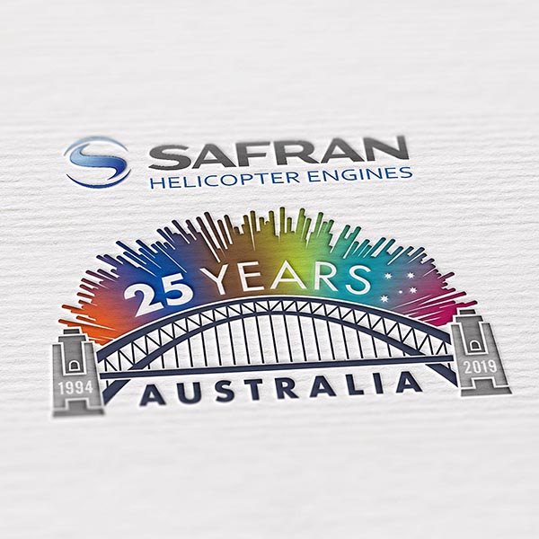 Safran Helicopter Engines 25th Anniversary branding