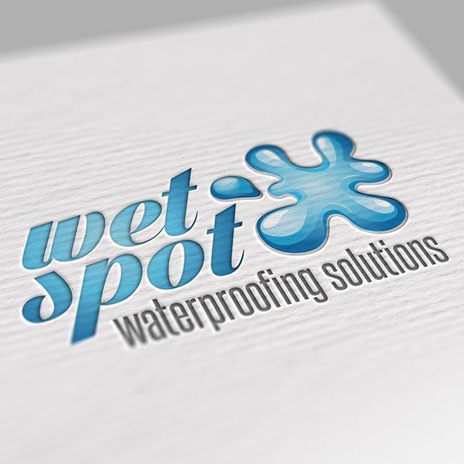 Wet Spot Waterproofing branding