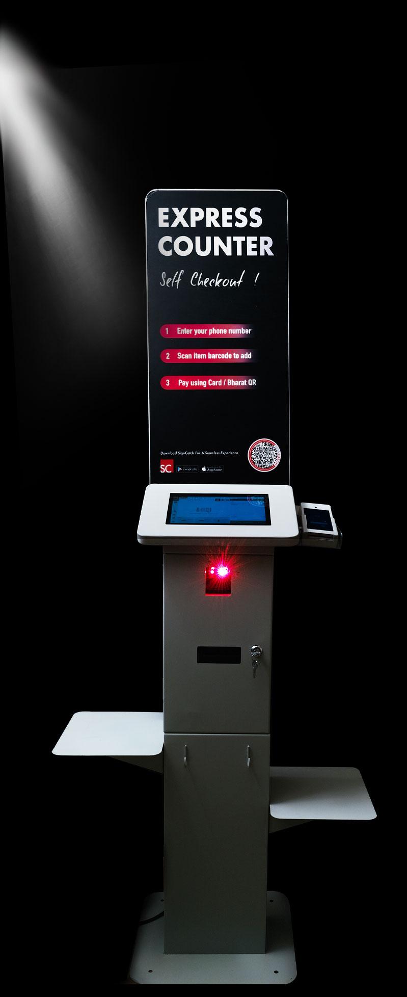 self-checkout kiosk machine in india