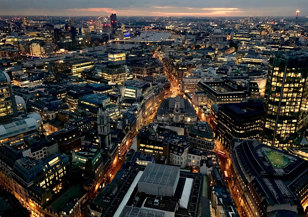 Image of London city by night