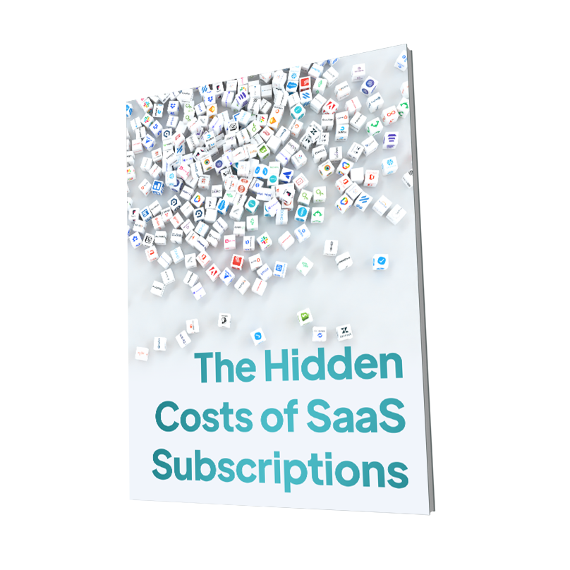 A book cover for Hidden Costs of SaaS software subscriptions