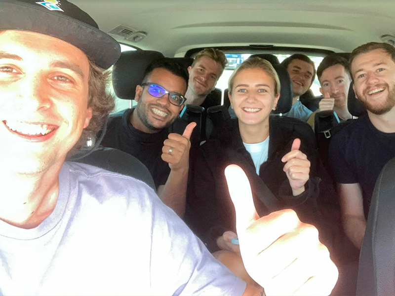 The Cledara team on the road