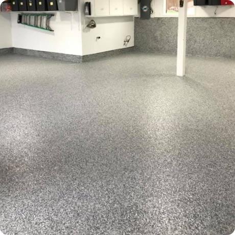 epoxy flake coated garage floor
