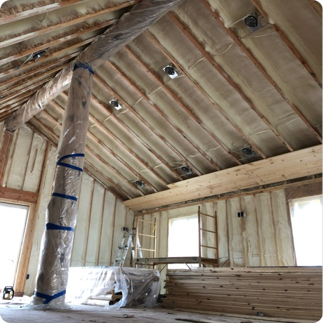 spray foam insulation in home