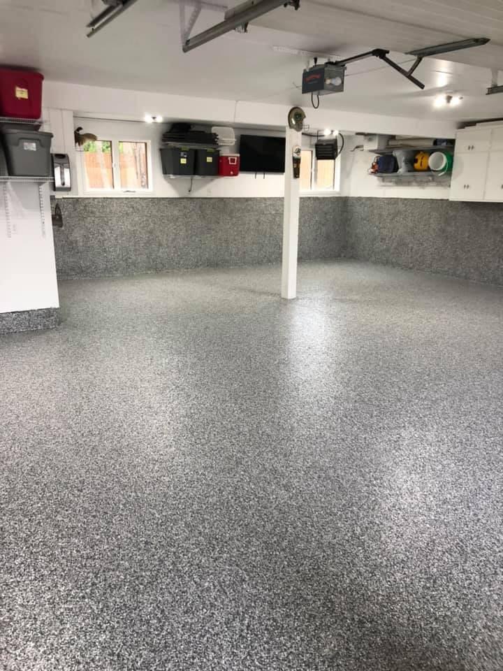 garage flake floor