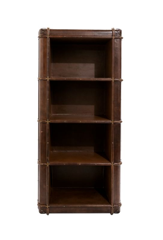 Library in leather Cognac