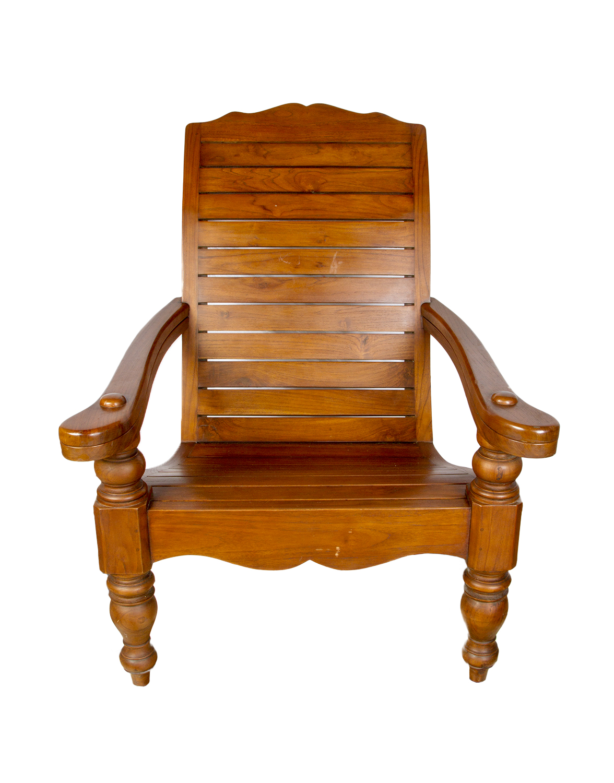 Teak plantation chair