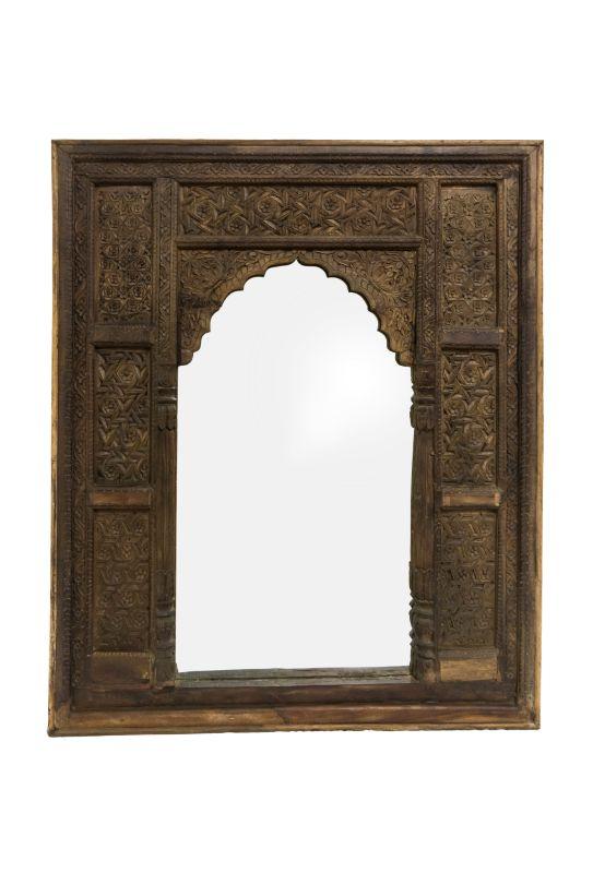 Marco de espejo madera jharokha