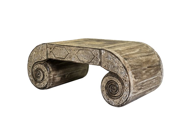 Timor whitewash coffee table