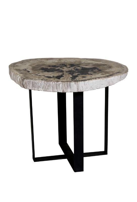 Mesa de centro madera fosilizada ovalada