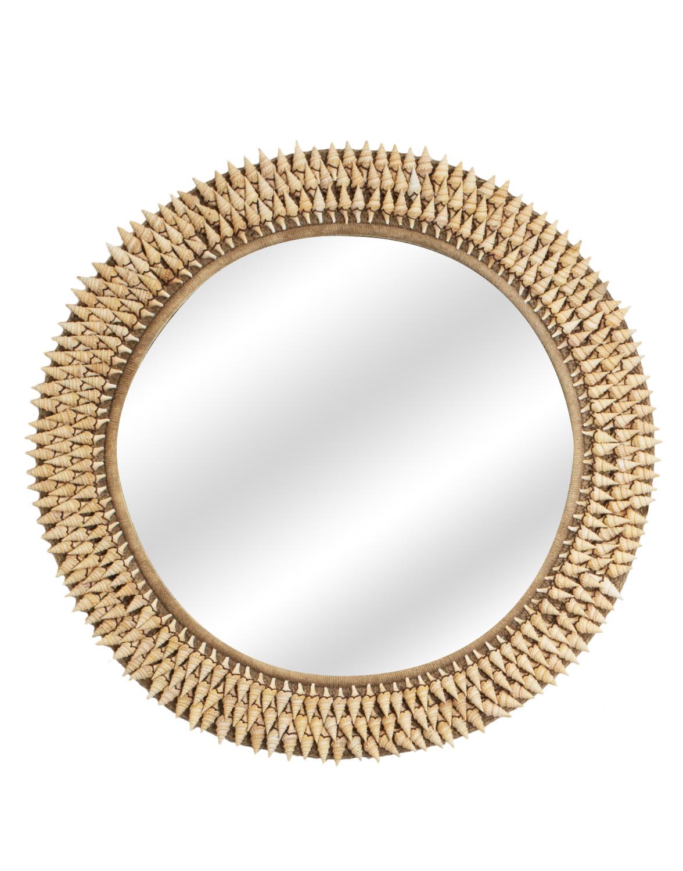 Espejo con marco de caracolitos