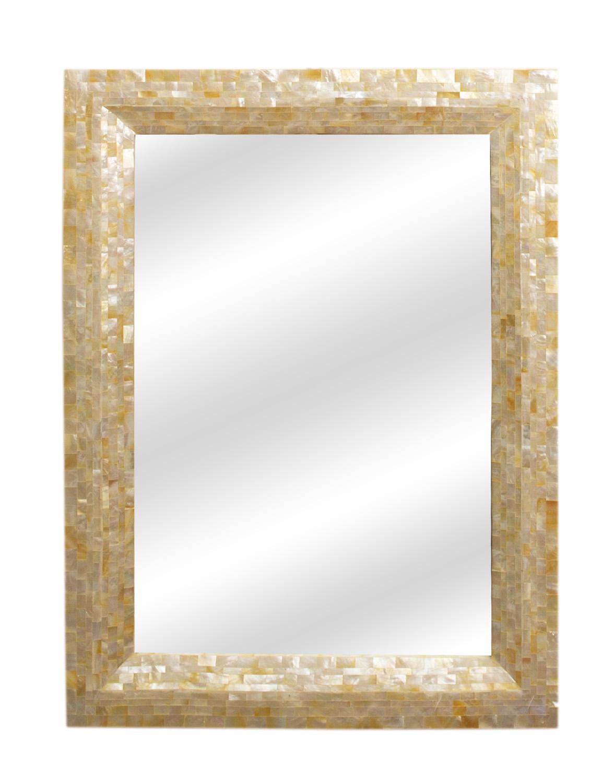 Espejo con marco de nacar