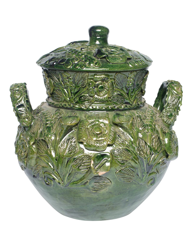 Jarrón Mexicano en ceramica verde