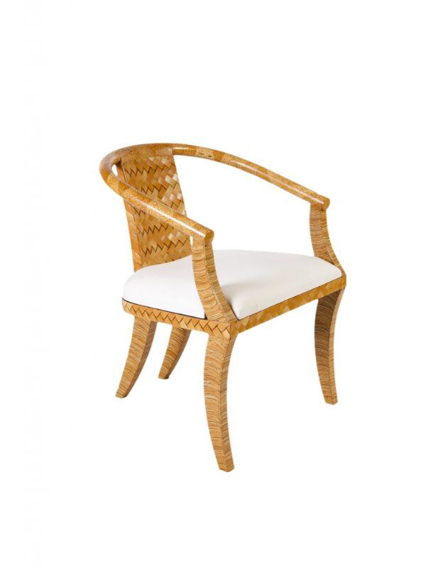 Yellow coconut fiber chair