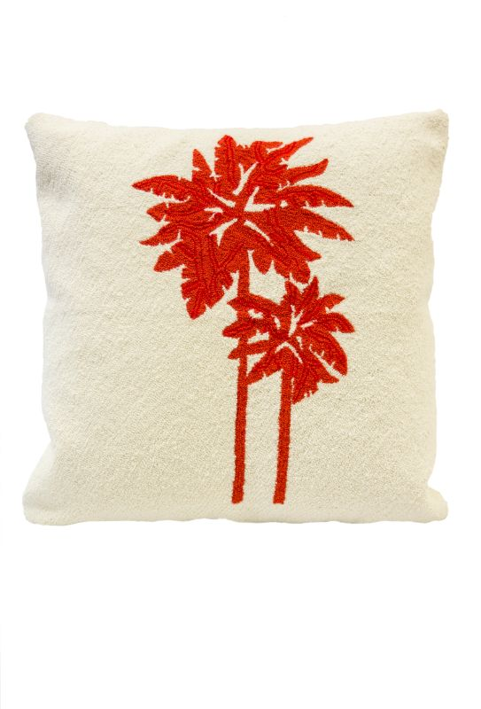 Cojin tejido puyao diseño palmeras