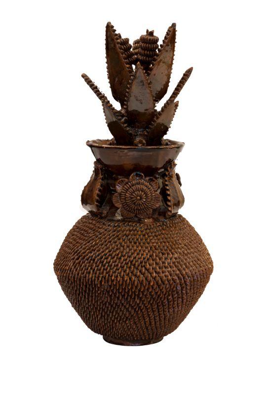 Piña ornamental Michoacan café, 43 Cms