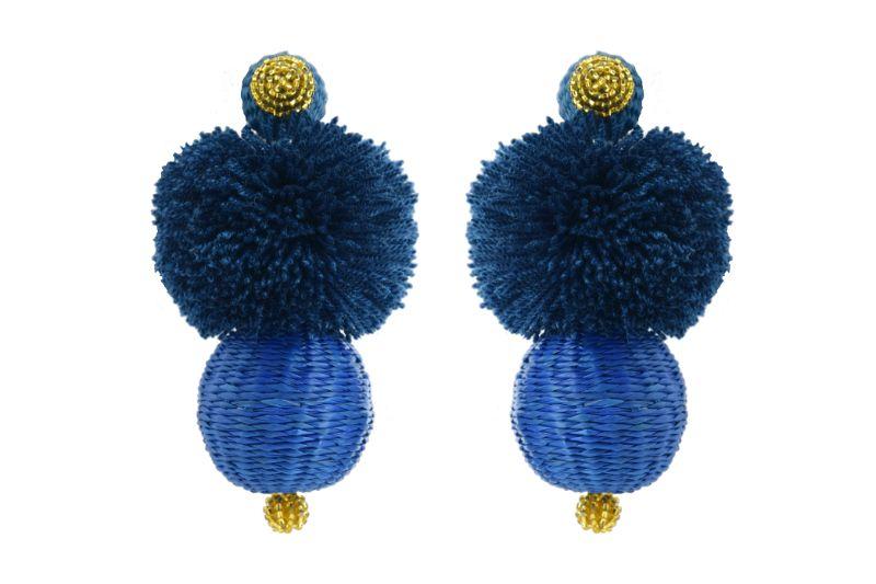 Frufru Earrings Blue King