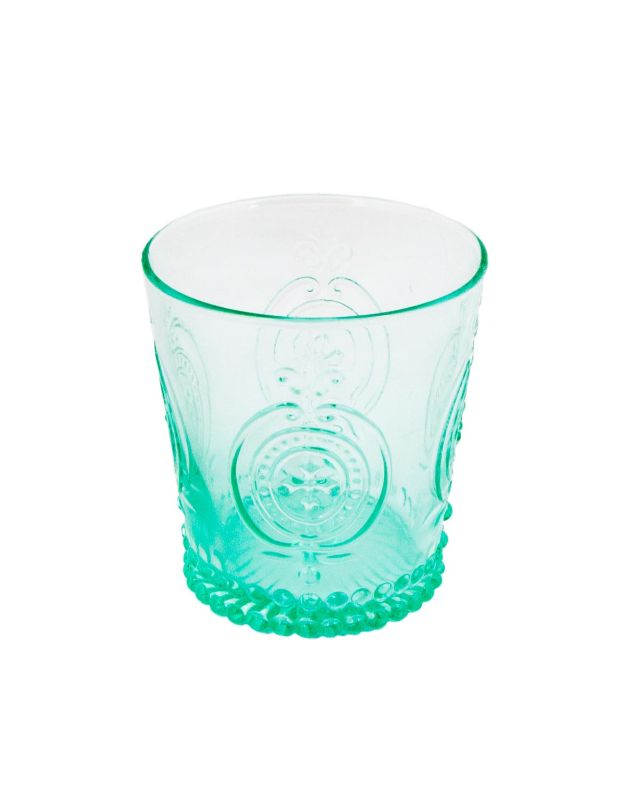 Green carved glass