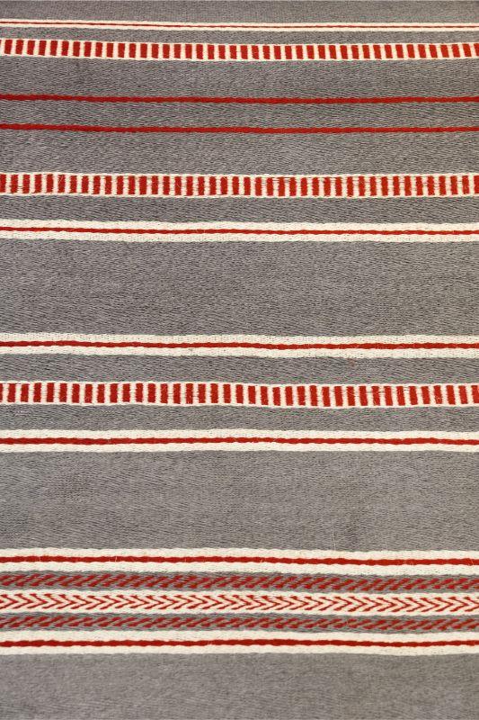 Rectangular mat Hechizoo, grey - red