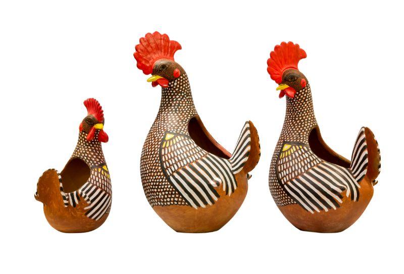 Maceta en forma de gallo, 84 Cms