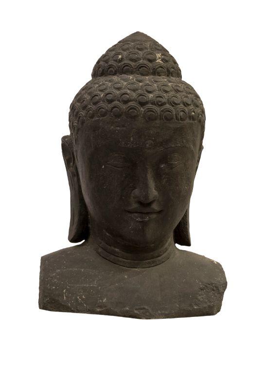 Estatua de piedra Cabeza Buda