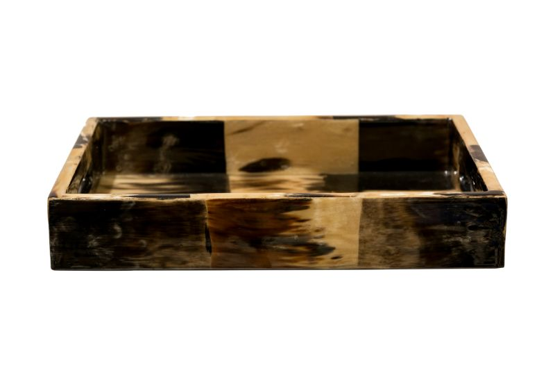 Bandeja rectangular Cacho, Beige-Negro