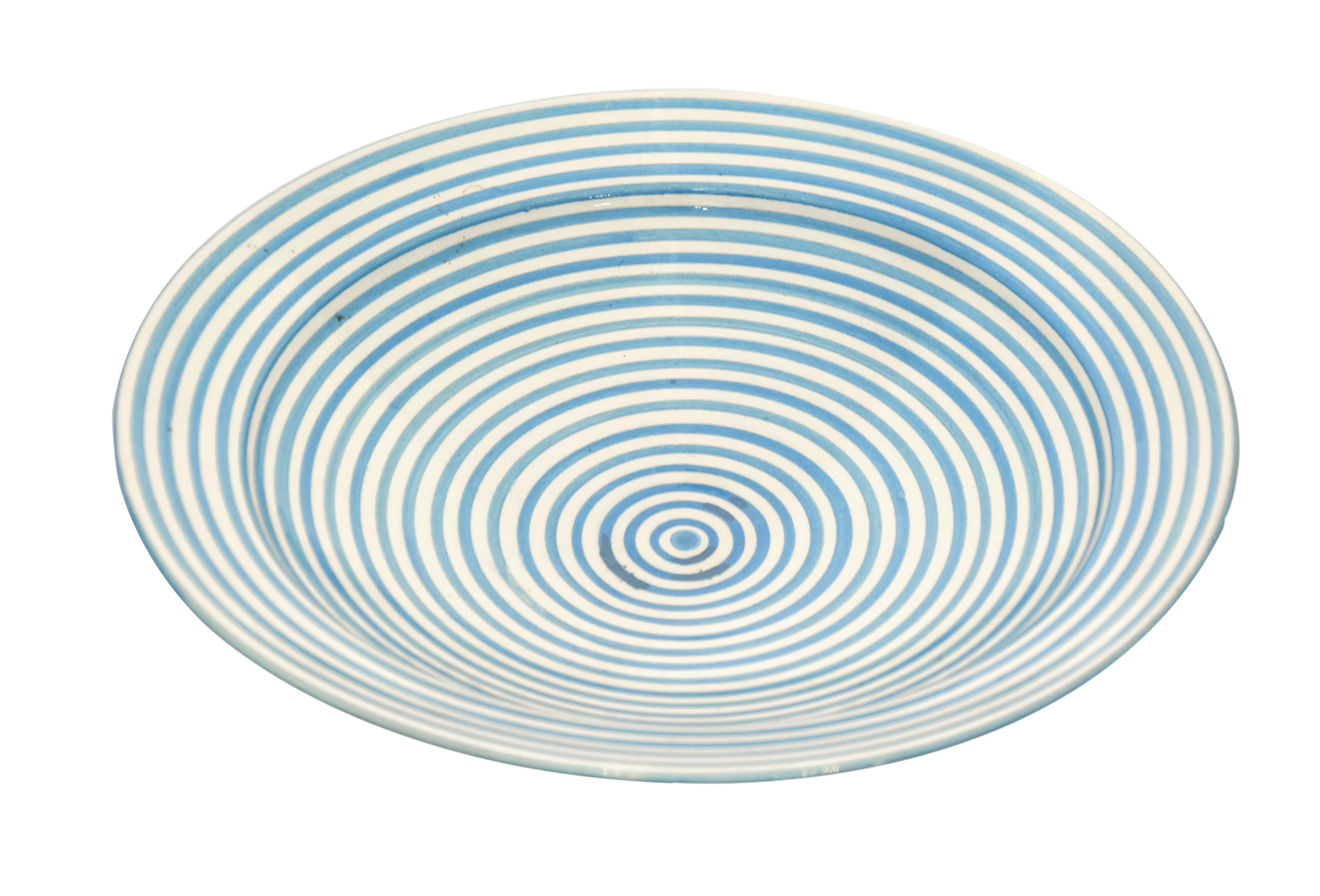 Moroccan Blue Spiral Dish, 27 Cm