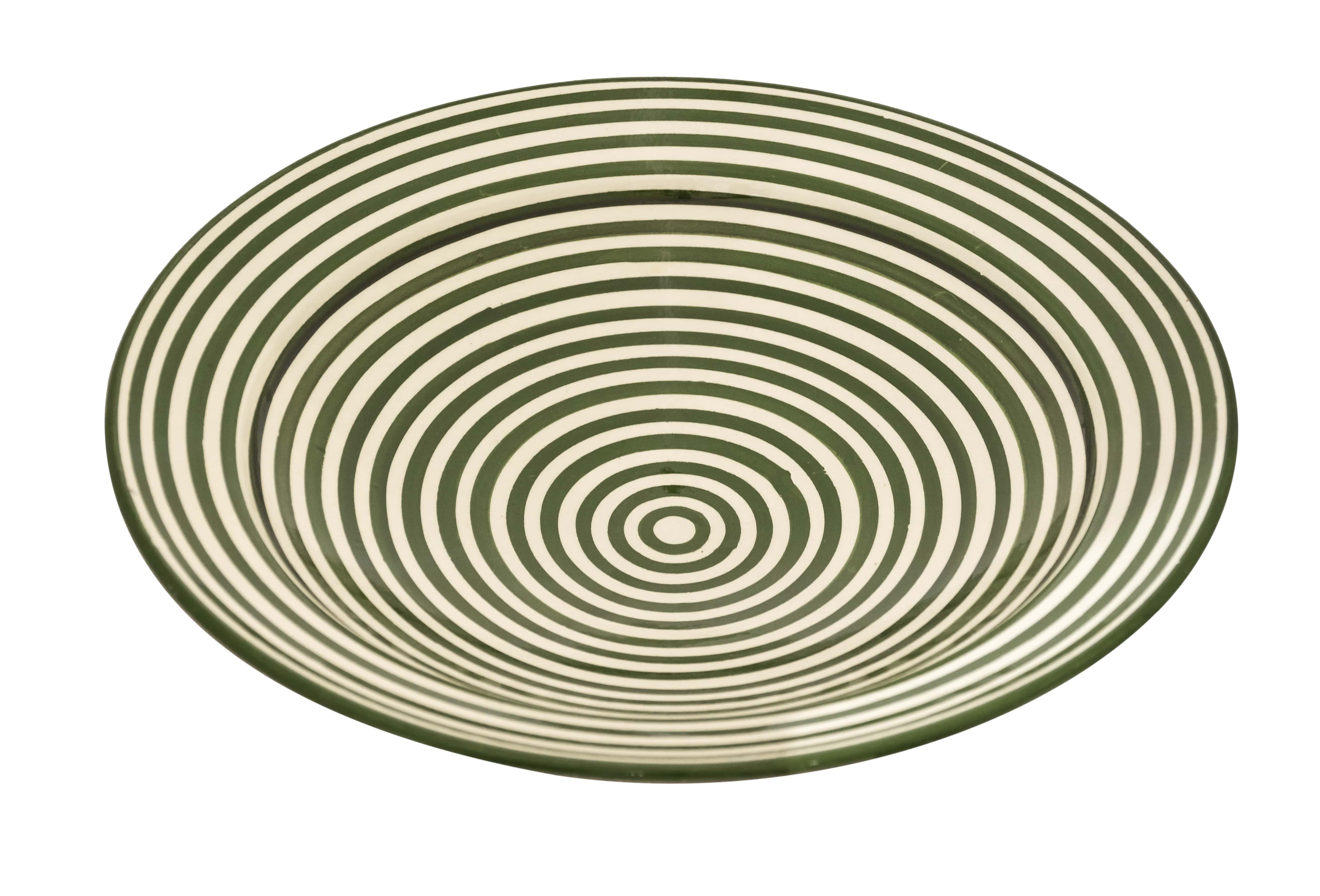 Moroccan green spiral plate,35 Cm