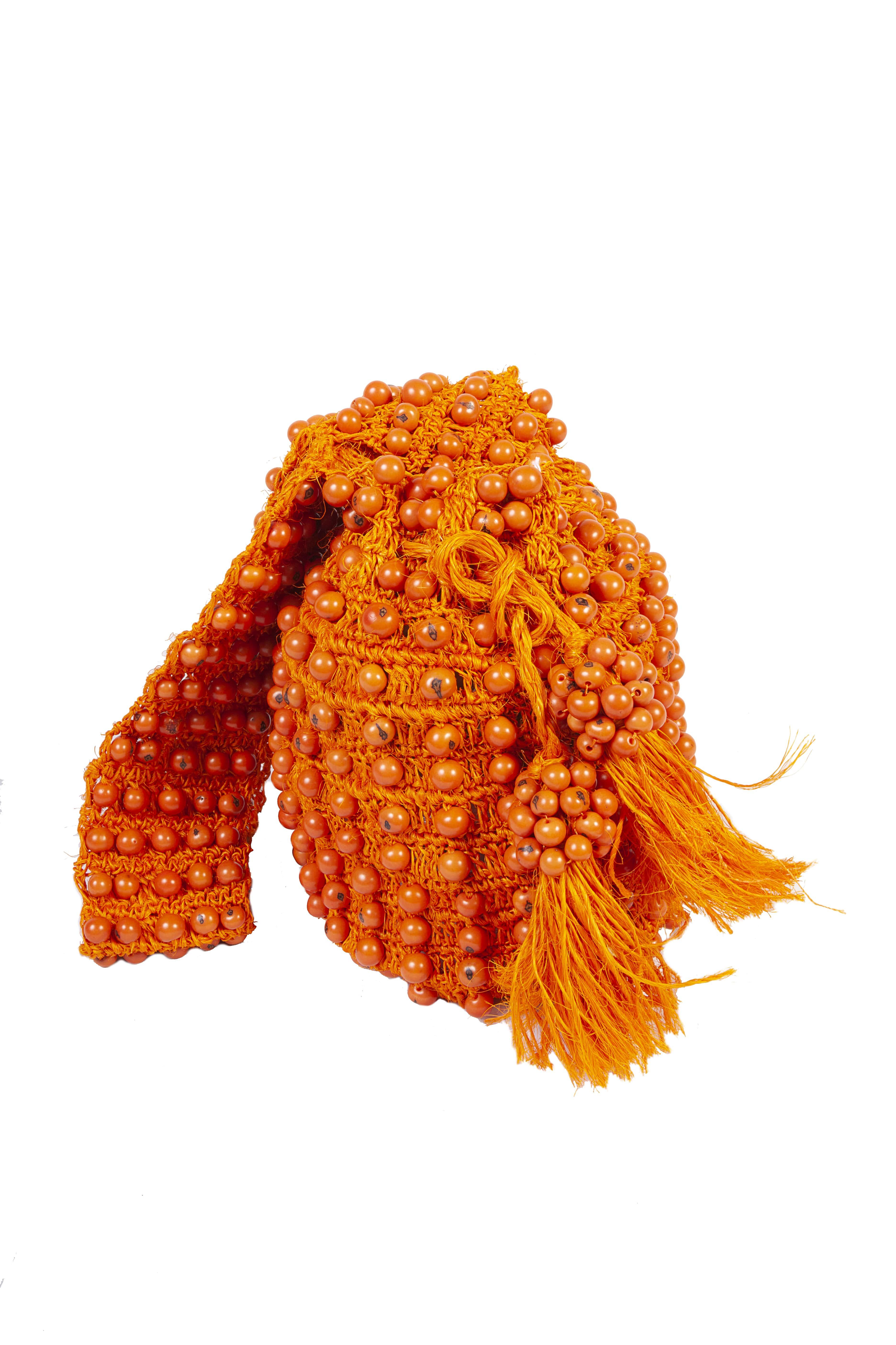 Mochila Fique Tagua,Naranja