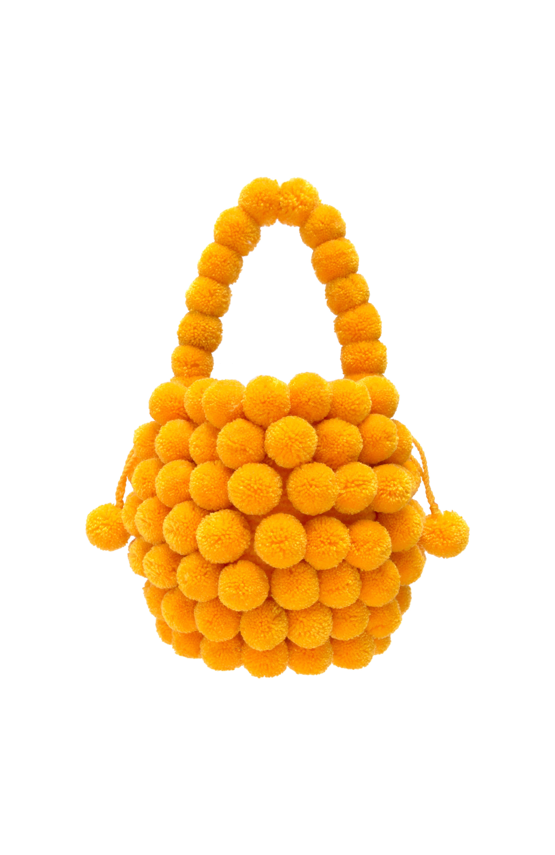 Mochila Multi-Pompom amarilla