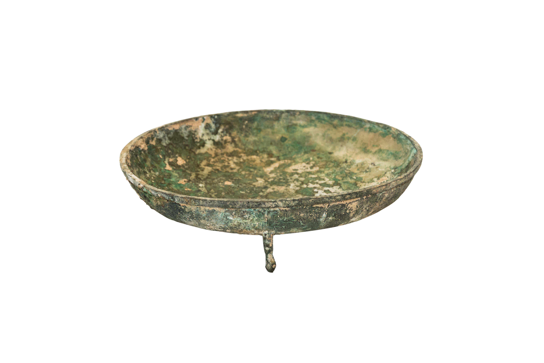 Plato vintage en bronce