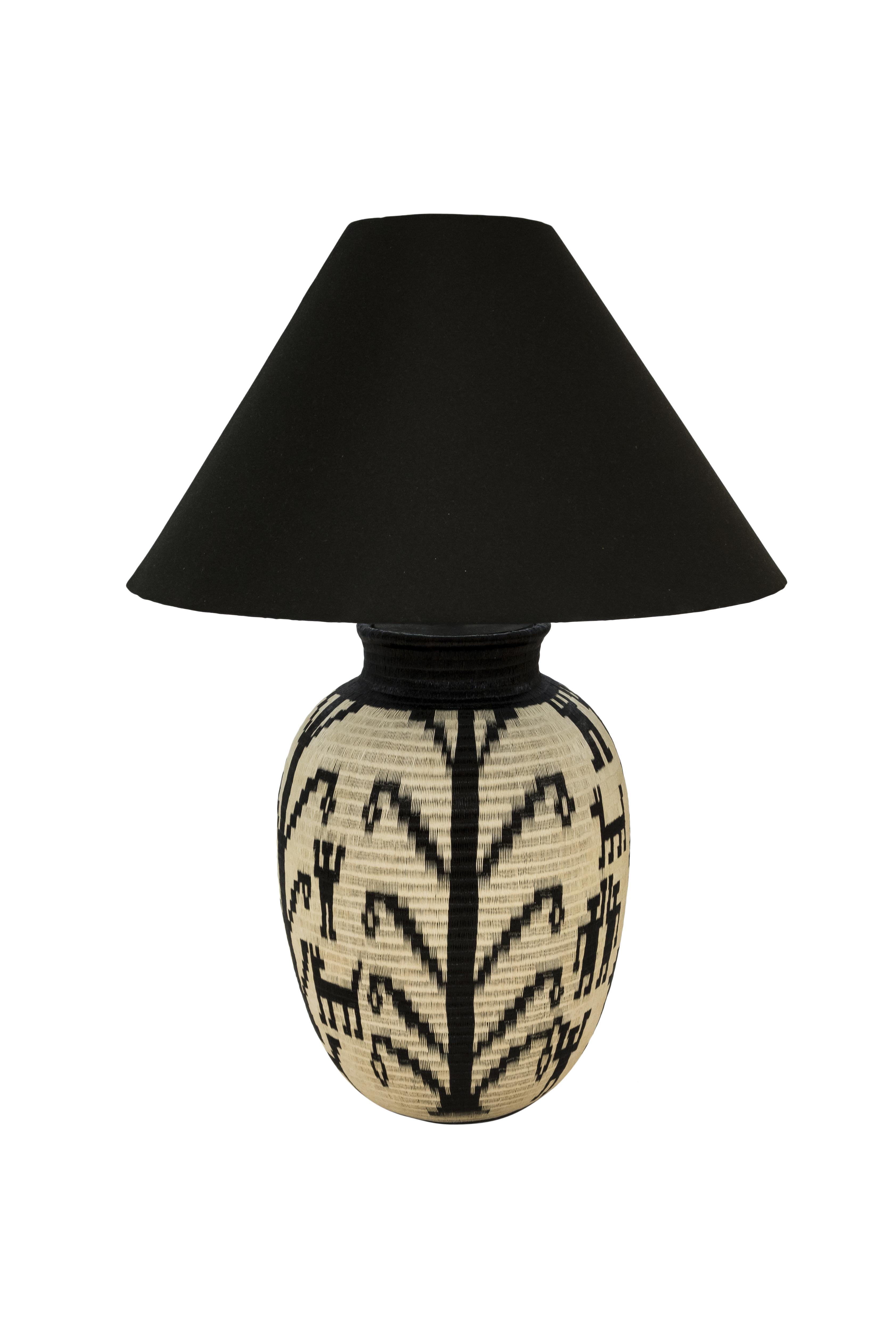 Lámpara de mesa werregue etnicas