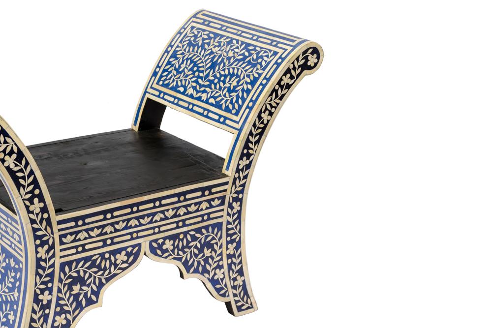 Banca Marroquí diseño flor