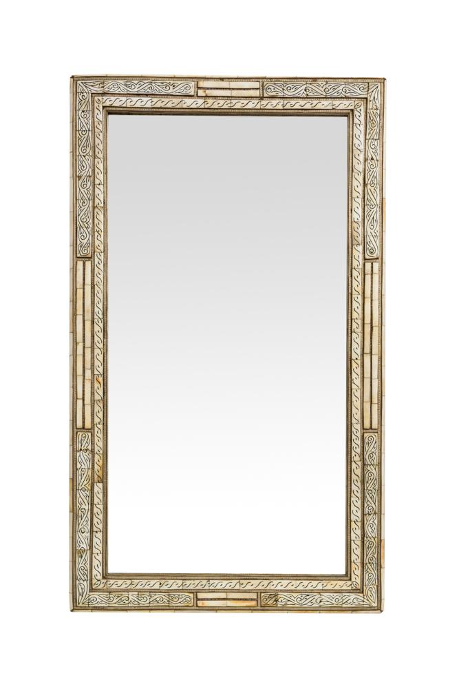 Espejo Marroqui Hueso Blanco