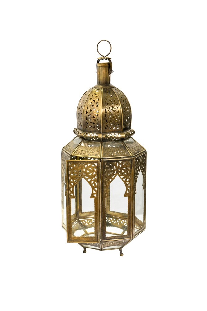 Moroccan stained glass lamp