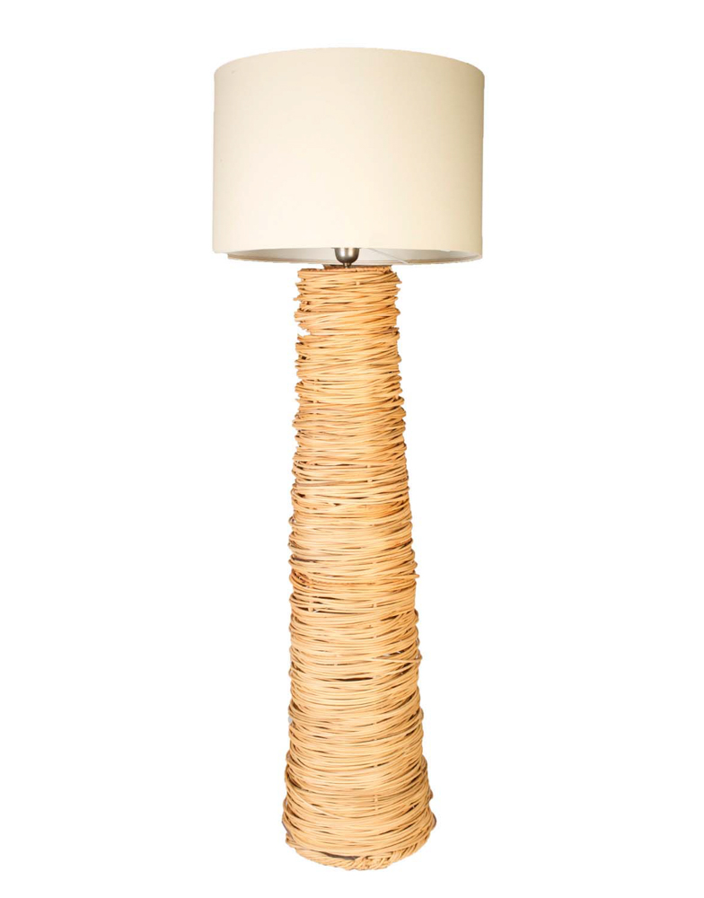 Lámpara de pie rattan,162 Cms