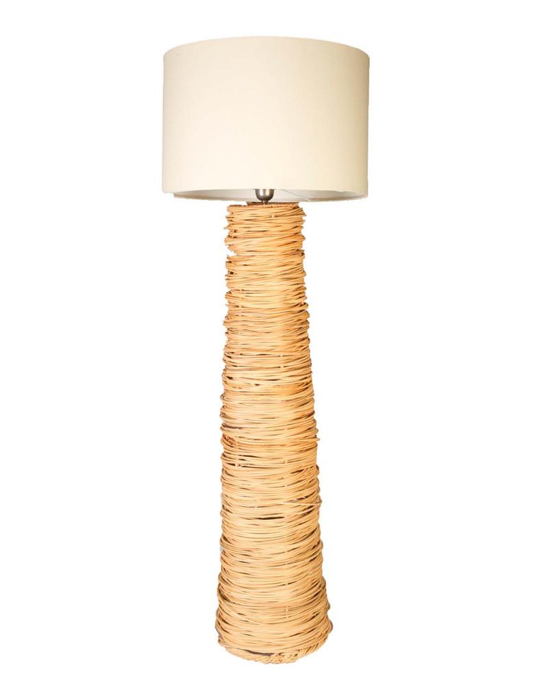 Rattan floor lamp,162 Cm