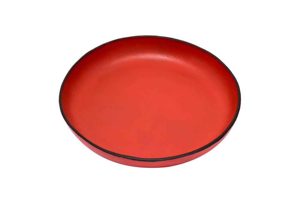 Plato cuero, Rojo