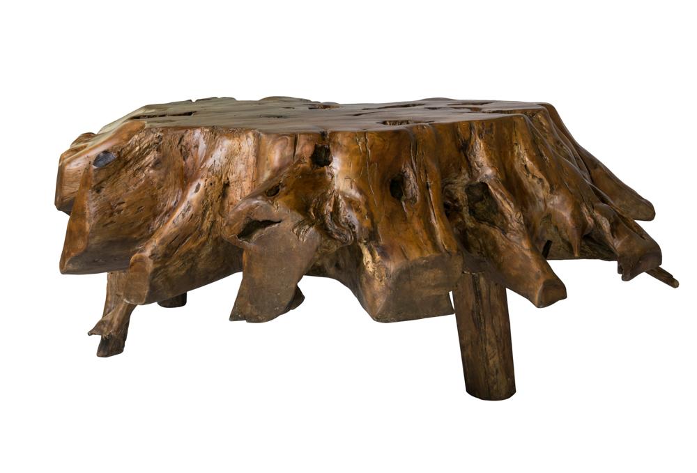Coffee table teak root, 130 Cm