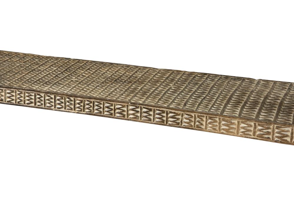 Banca madera tallada timor