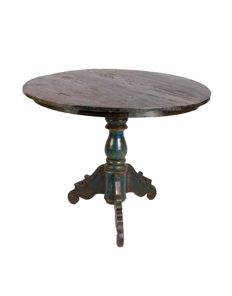 Mesa auxiliar en madera teka color verde