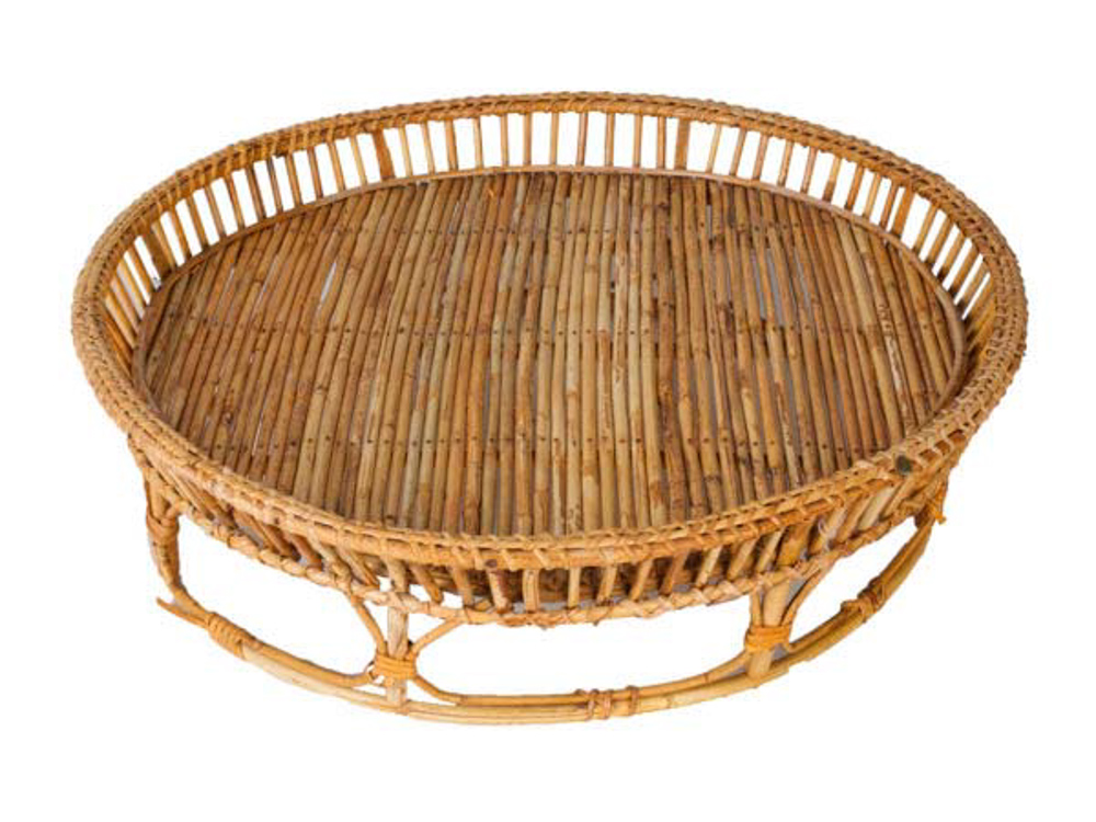 Round bamboo tray,60 Cm
