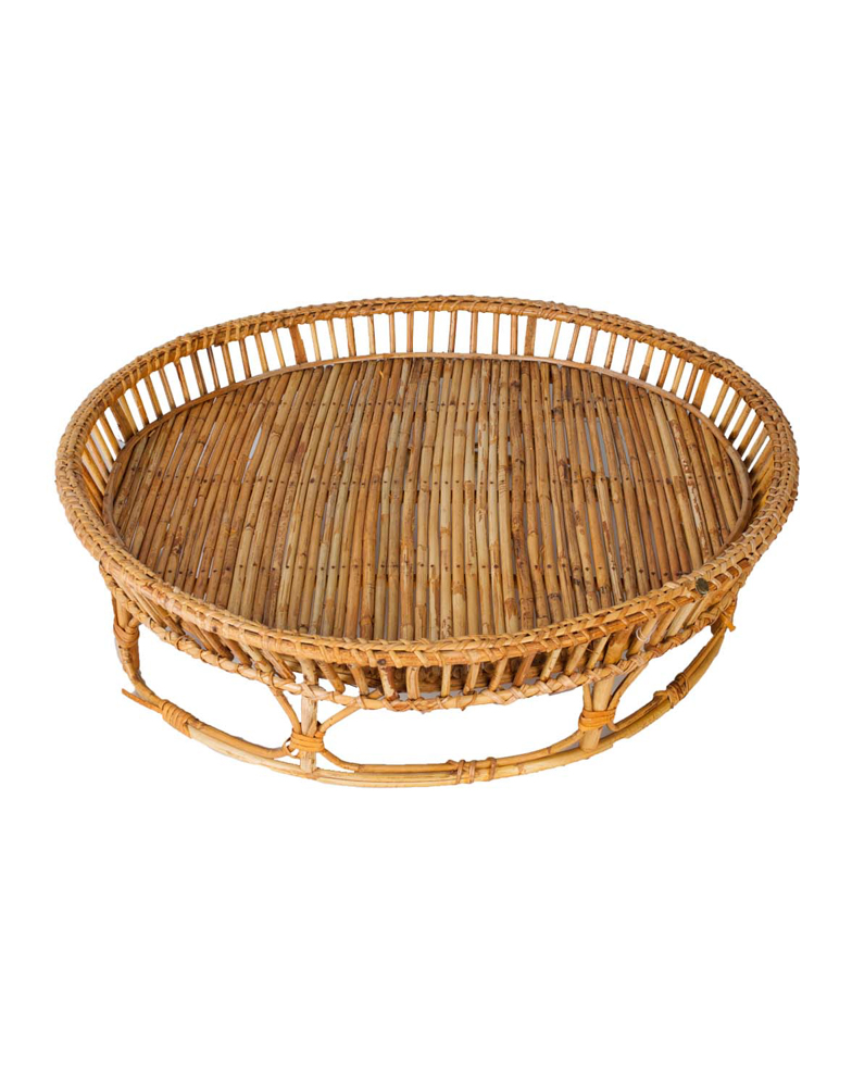 Round tray in Bamboo,52 Cm