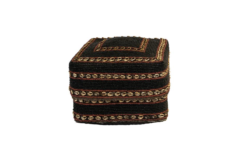 Caja chaquira balinesa negro-café