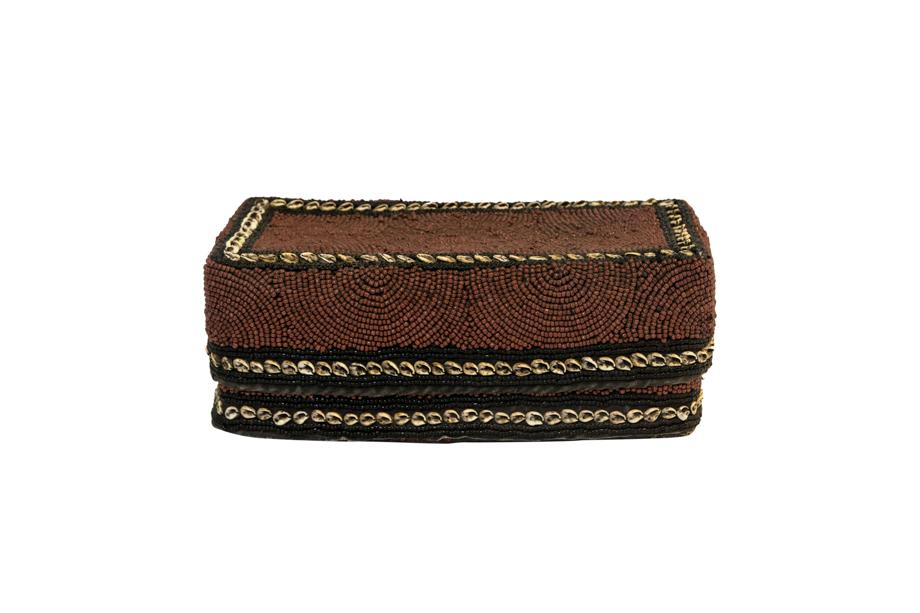 Caja chaquira balinesa rectangular