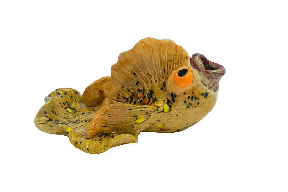 Cenicero cerámica, Pescado Amarillo
