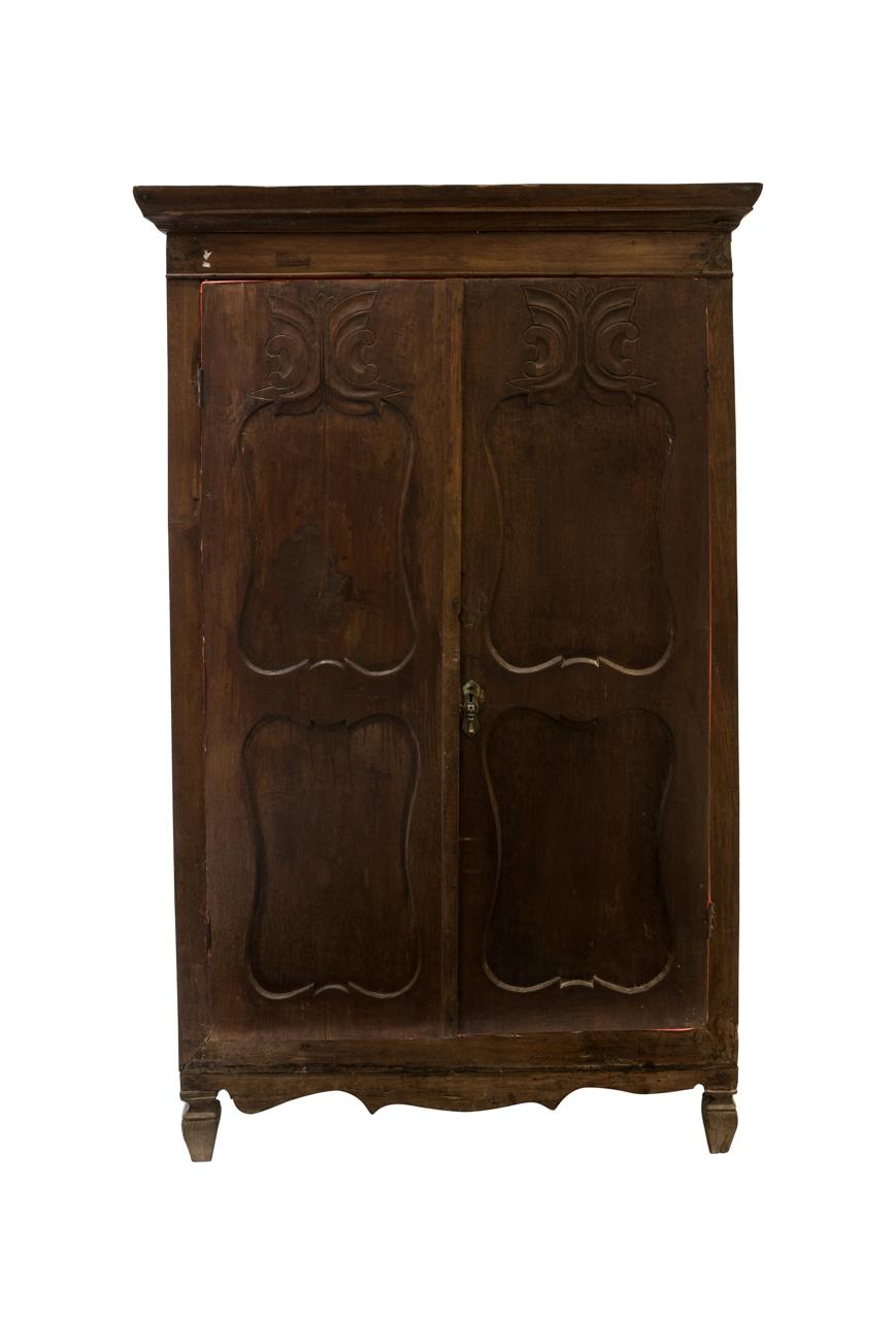 Dark brown carved cupboard