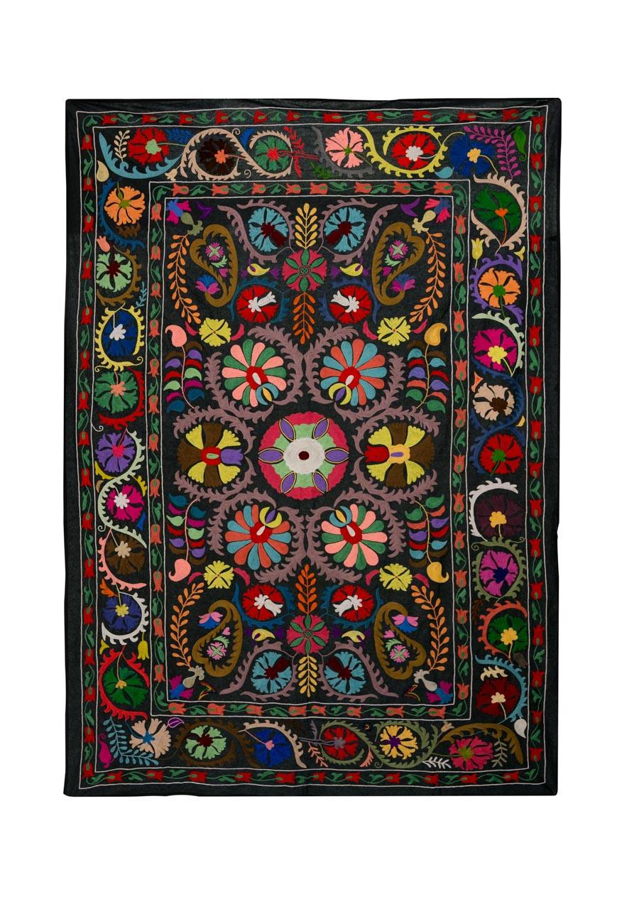 Suzani Decorativo Discos De Sol