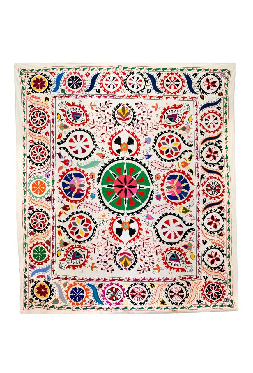 Suzani Decorativo Granadas Multicolores